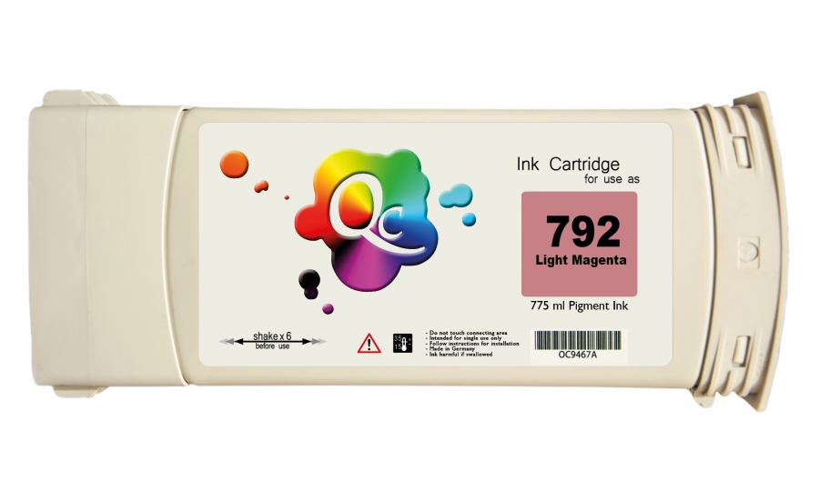 HP 792 CN710A Light Magenta Açık Kırmızı Muadil Mürekkep Kartuş 775ml