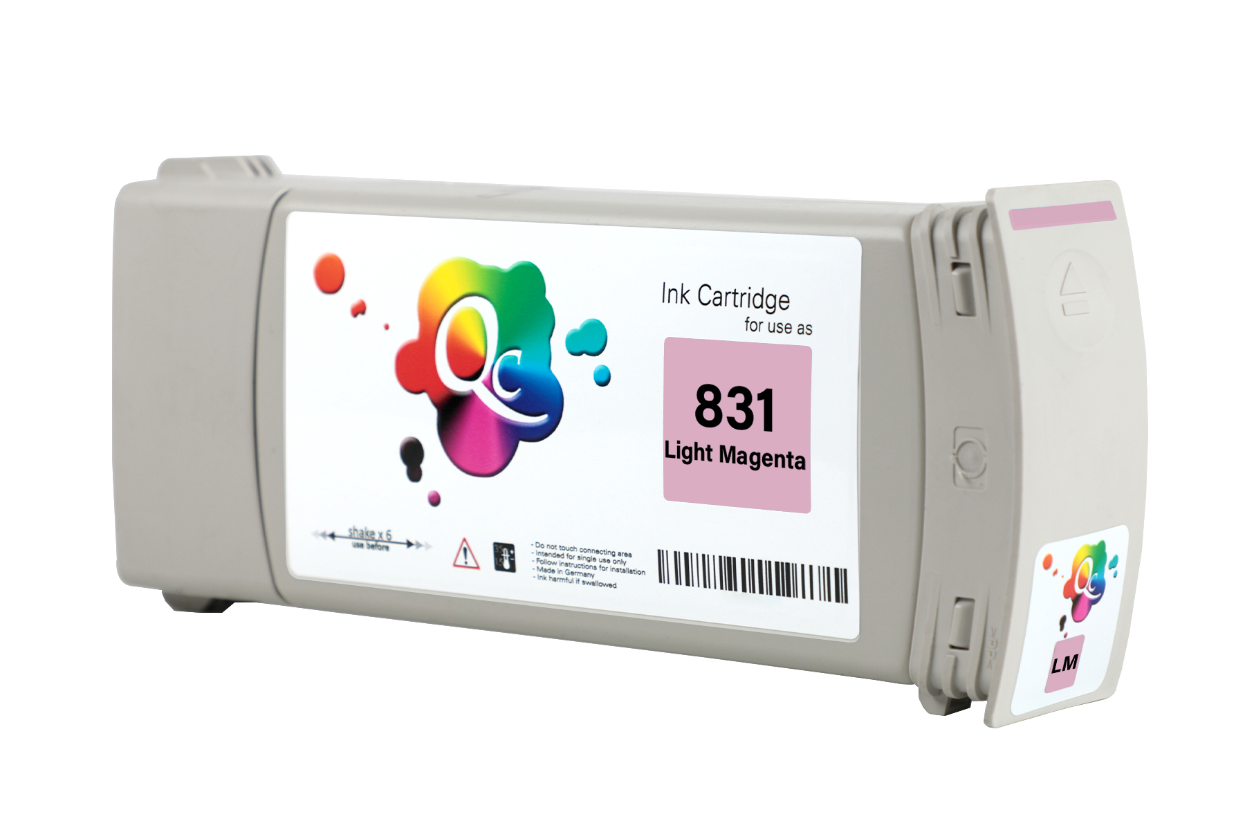 HP 831 CZ699A Light Magenta Açık Kırmızı Lateks Muadil Kartuş 775ml