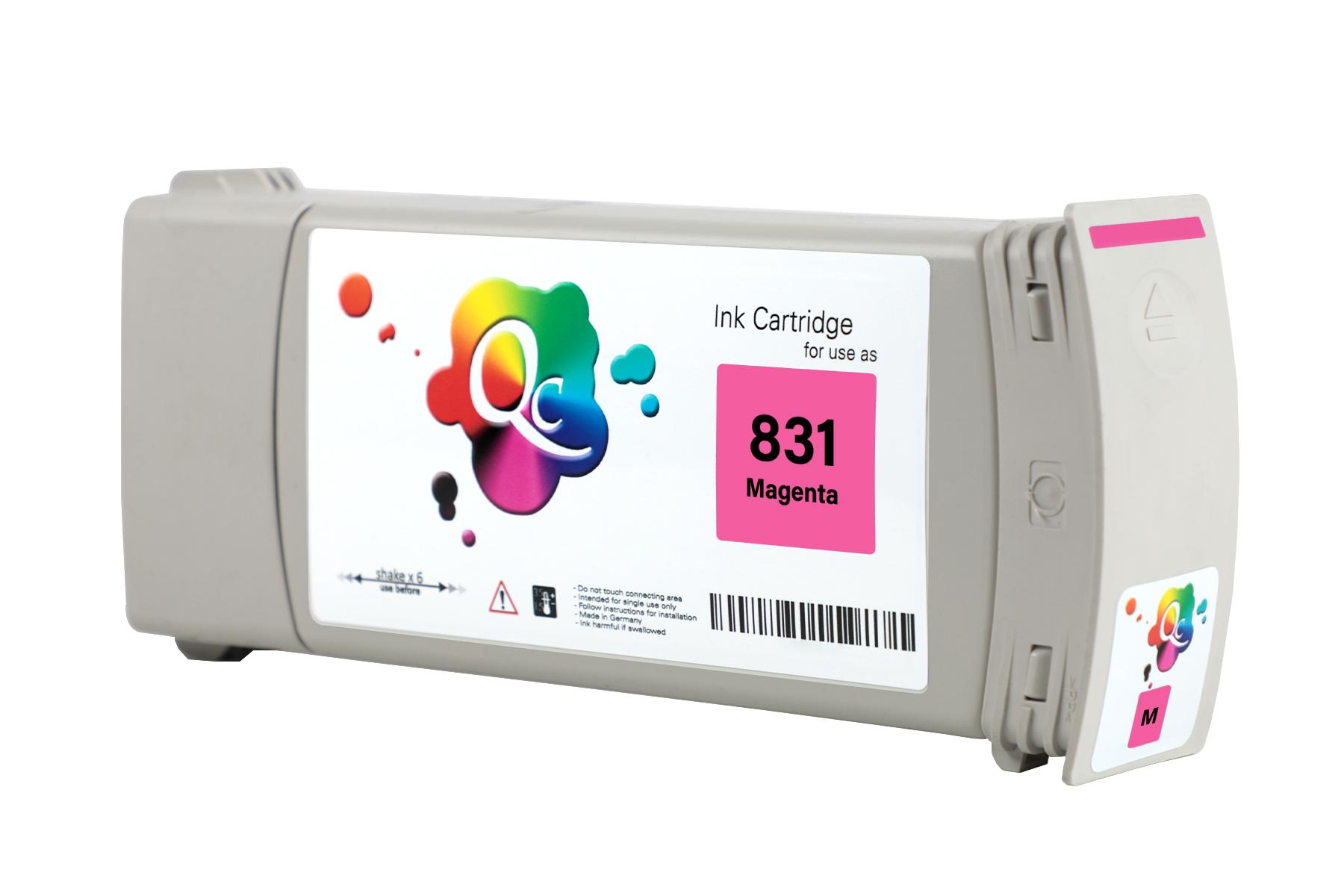 HP 831 CZ696A Magenta Kırmızı Lateks Muadil Mürekkep Kartuş 775ml