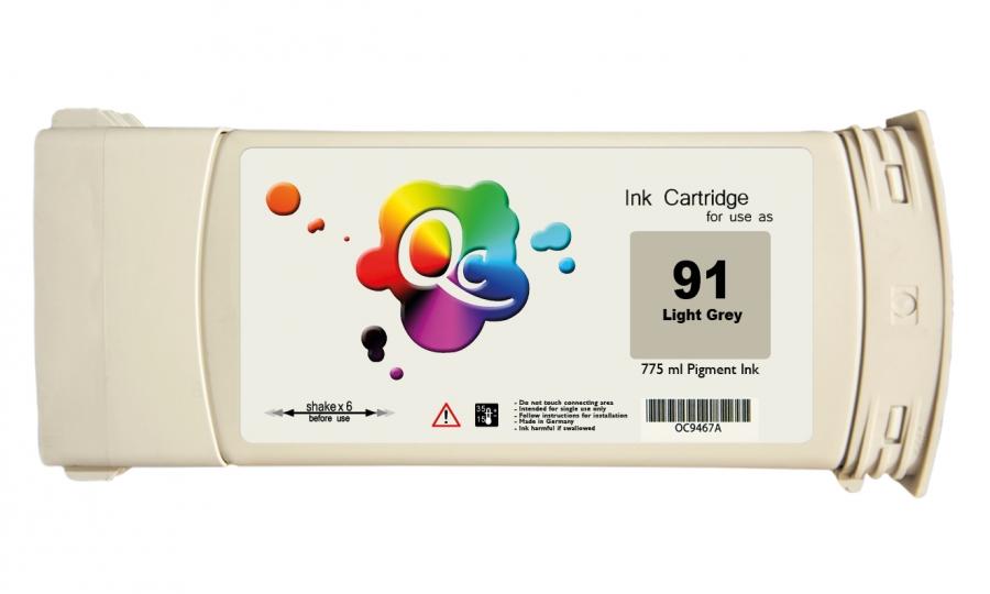 HP 91 C9466A Light Grey Açık Gri Plotter Pigment Kartuş 775ml