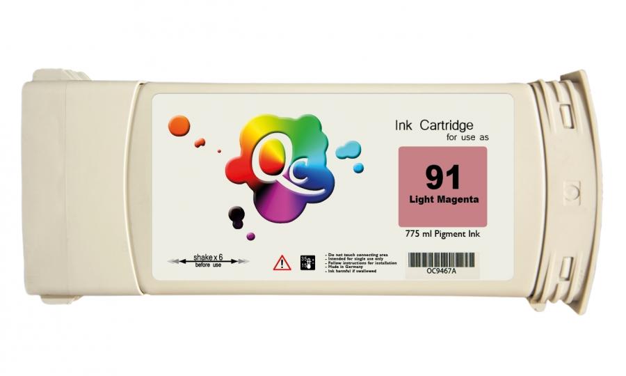 HP 91 C9470A Light Magenta Açık Kırmızı Plotter Pigment Kartuş 775ml