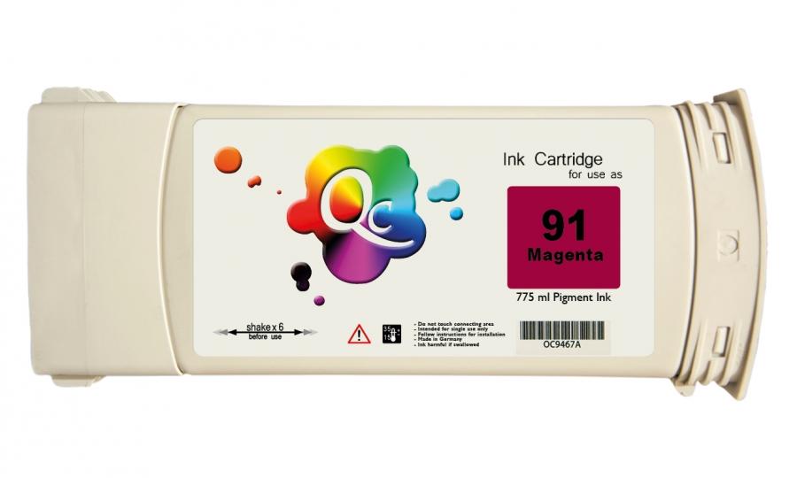 HP 91 C9468A Magenta Kırmızı Plotter Pigment Kartuş 775ml