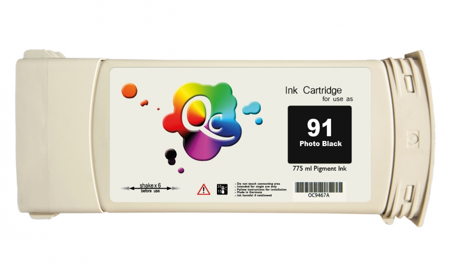 HP 91 C9465A Photo Black Foto Siyah Plotter Pigment Kartuş 775ml