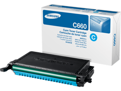 Samsung CLP-C660B Cyan Mavi Orijinal Toner Kartuş HC